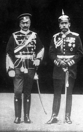 Kaiser Wilhelm II. und Zar Nikolaus II.