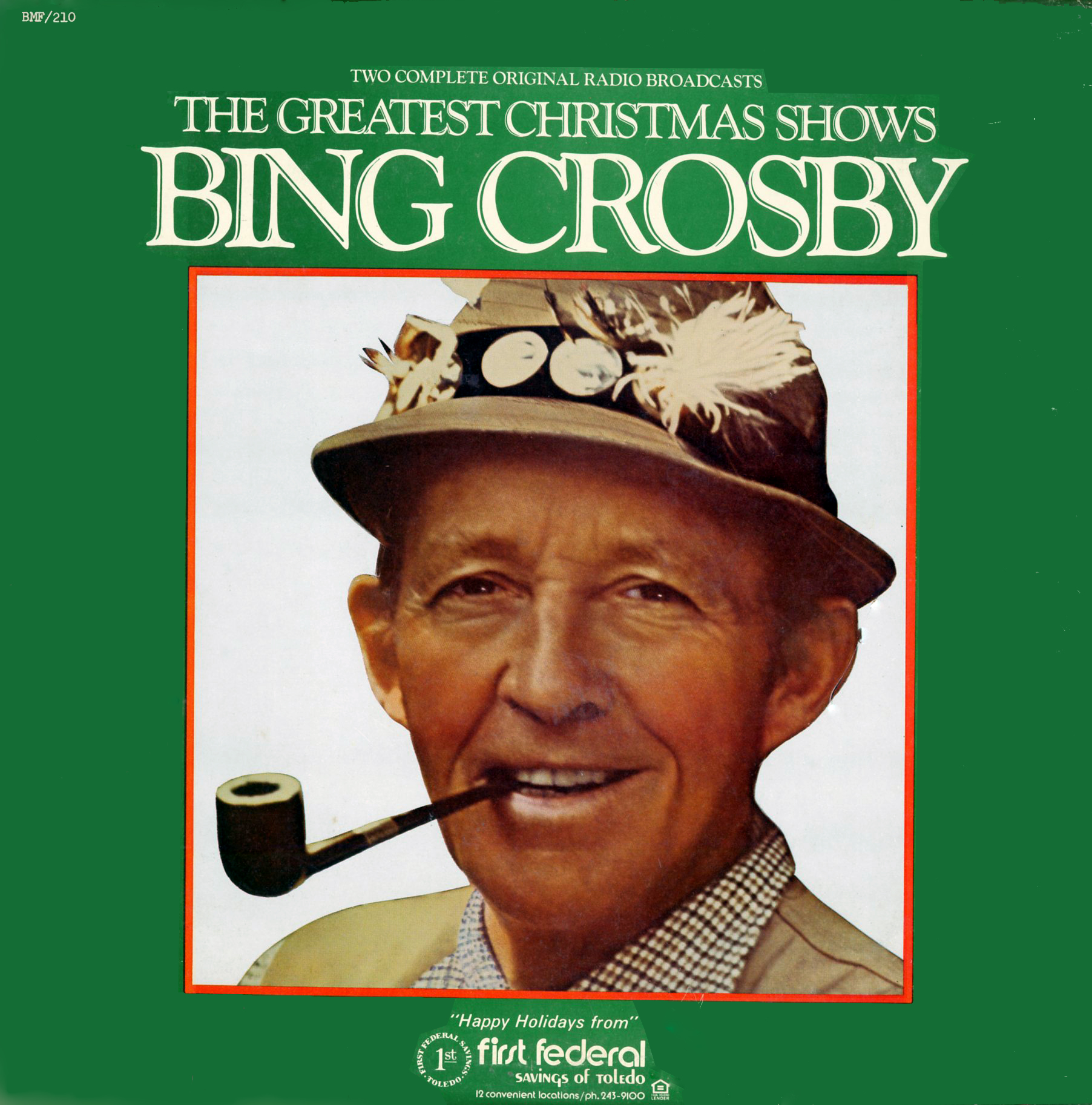 Bing Crosby Christmas.Album Cover Art Wednesday The Bing Crosby Christmas