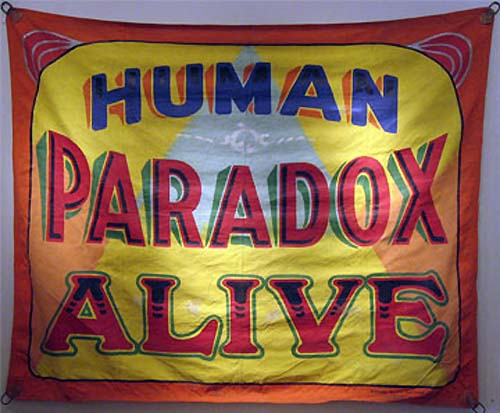 Sideshow banner by Fred G. Johnson.