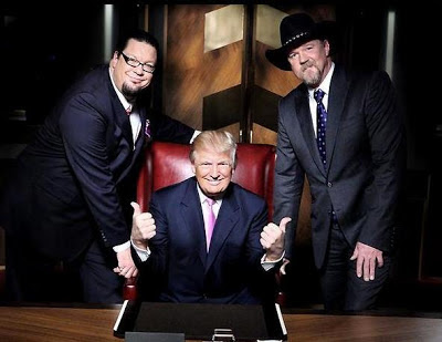Penn Jillette, Donald Trump, Trace Adkins - All-Star Celebrity Apprentice