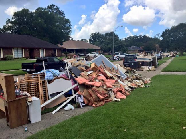 Baton Rouge debris photograph by Carolyn Scofield.