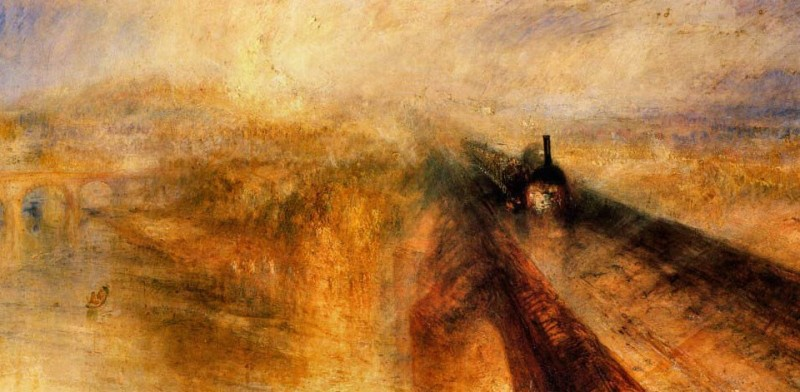 Rain, Steam, and Speed by JMW Turner, 1844.