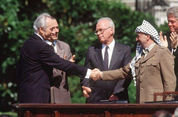 Peres, Rabin, Arafat.