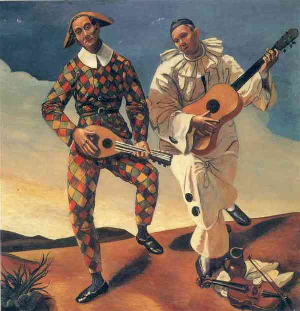 _andre_derain_-_harlequin-and-pierrot-1924