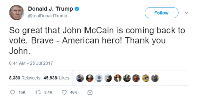 TrumpTweetMcCain