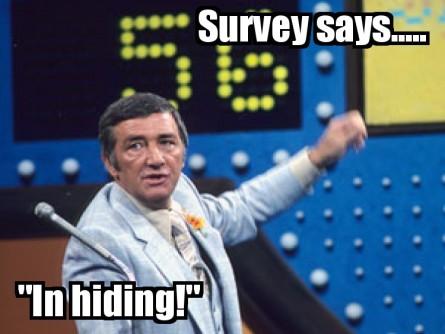 SurveySaysInHiding